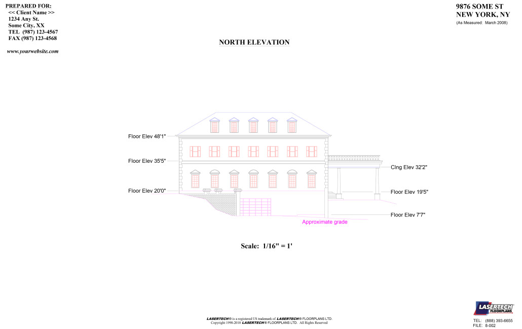 Lasertech ELEVATIONS & SECTIONS