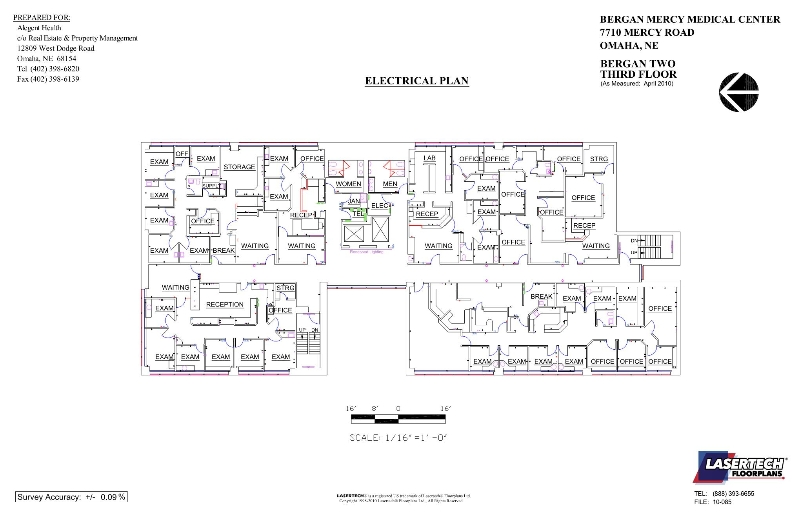 bergan-2-floor-3-electrical - Lasertech Floorplans